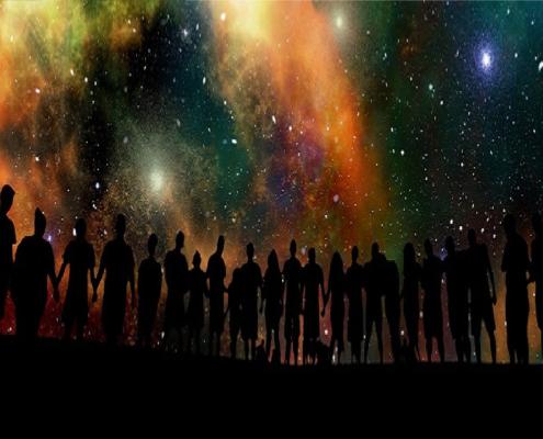 Auguri: persone connesse nell'universo
