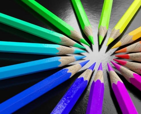 soggettività: matite colorate
