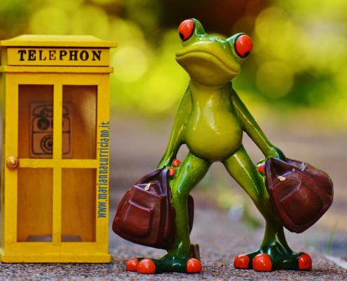 telefonare, ranocchio